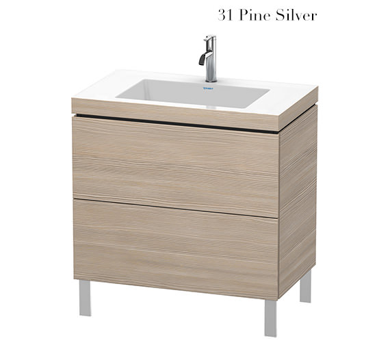 Additional image of Duravit L-Cube 800mm Floor Standing Vanity Unit With C-Bonded Basin