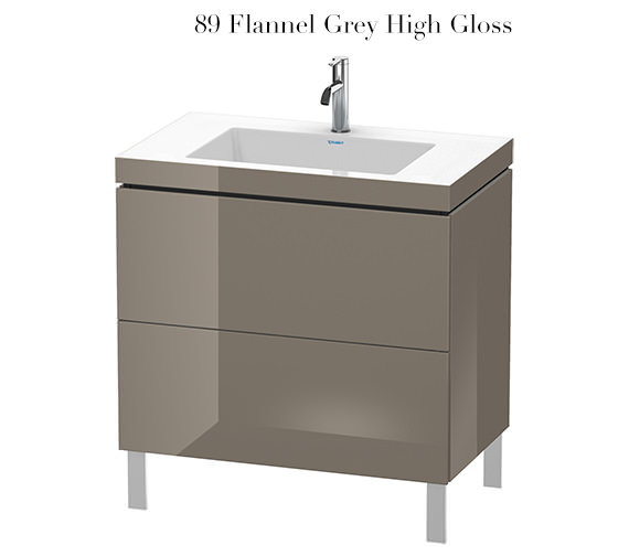 Alternate image of Duravit L-Cube 800mm Floor Standing Vanity Unit With C-Bonded Basin