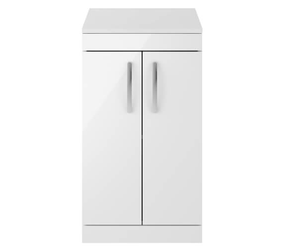 Alternate image of Nuie Premier Athena 500mm Floor Standing Cabinet With Worktop Gloss White Finish