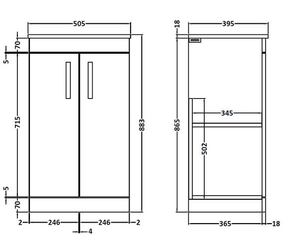 Technical drawing QS-V89273 / ATH007W