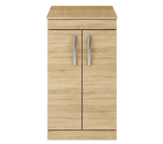 Additional image of Nuie Premier Athena 500mm Floor Standing Cabinet With Worktop Gloss White Finish