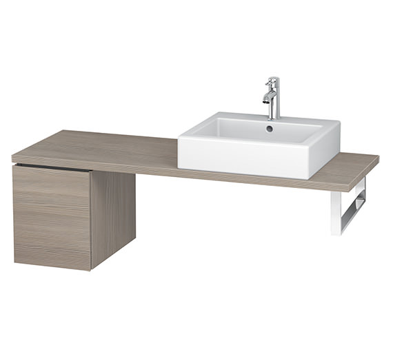 Additional image of Duravit L-Cube 320mm 1 Drawer Floor Standing Vanity Unit For Console