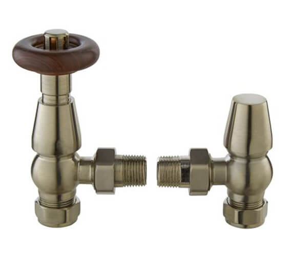 Additional image of Hudson Reed Camden Angled Thermostatic Valve With Lockshield Chrome