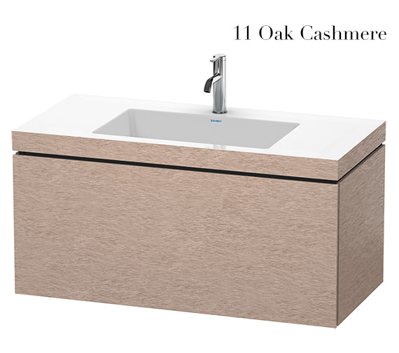 Alternate image of Duravit L-Cube 1000mm 1 Drawer Vanity Unit With C-Bonded Basin