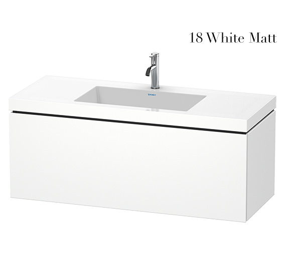 Duravit L-Cube 1200mm 1 Drawer Vanity Unit With C-Bonded Basin