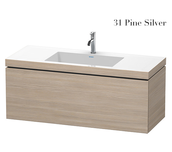 Additional image of Duravit L-Cube 1200mm 1 Drawer Vanity Unit With C-Bonded Basin