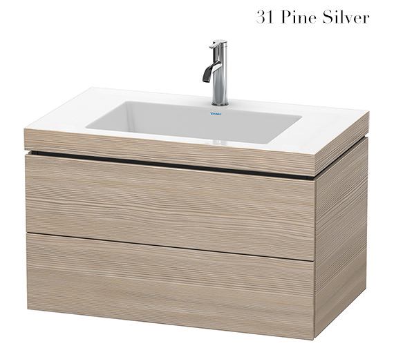 Additional image of Duravit L-Cube 800mm 2 Drawer Vanity Unit With C-Bonded Basin