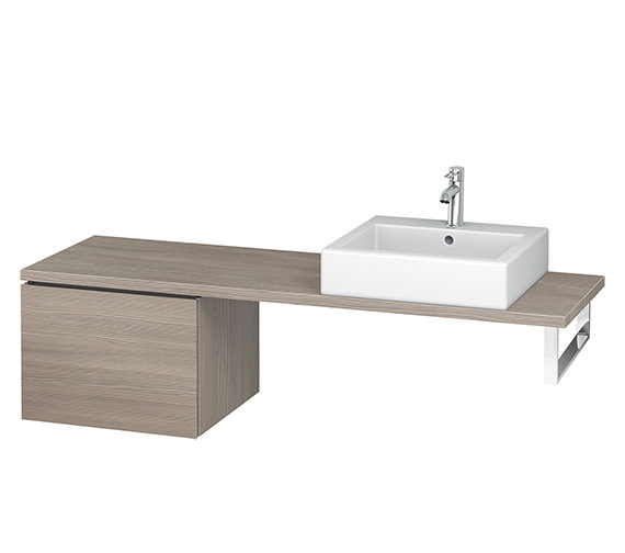 Additional image of Duravit L-Cube 520mm 1 Drawer Floor Standing Vanity Unit For Console
