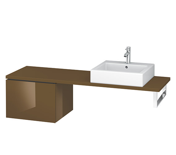 Alternate image of Duravit L-Cube 520mm 1 Drawer Floor Standing Vanity Unit For Console