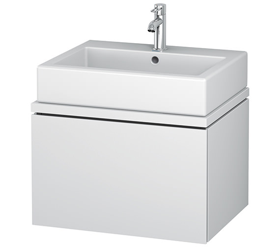 Duravit L-Cube 620mm White Matt 1 Drawer Vanity Unit For Console