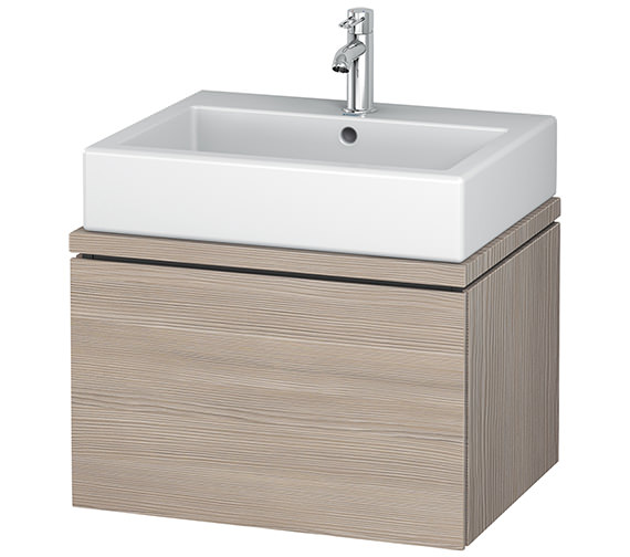 Additional image of Duravit L-Cube 620mm White Matt 1 Drawer Vanity Unit For Console