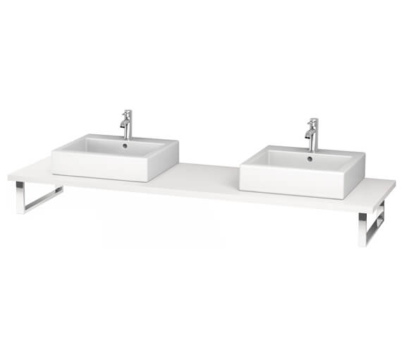 Duravit L-Cube 800 x 550mm White Matt 2 Cut Out Console