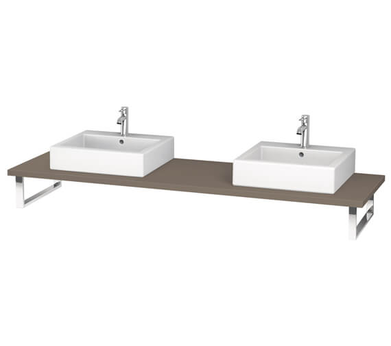 Additional image of Duravit L-Cube 800 x 550mm White Matt 2 Cut Out Console