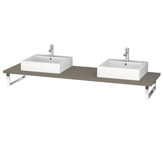 Alternate image of Duravit L-Cube 800 x 550mm White Matt 2 Cut Out Console