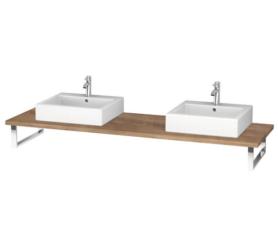 Alternate image of Duravit L-Cube 800 x 550mm White High Gloss 2 Cut Out Console