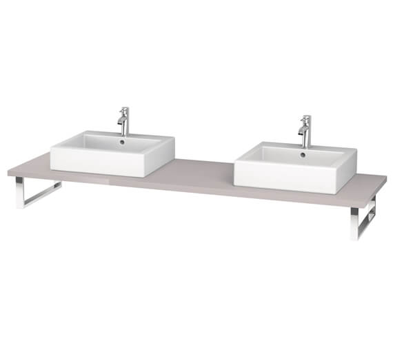 Additional image of Duravit L-Cube 800 x 550mm Jade High Gloss 2 Cut Out Console
