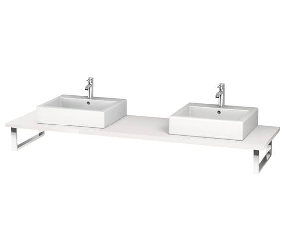Alternate image of Duravit L-Cube 800 x 550mm Jade High Gloss 2 Cut Out Console