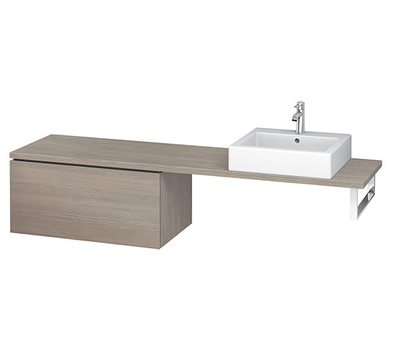Additional image of Duravit L-Cube 820mm 1 Drawer Floor Standing Vanity Unit For Console