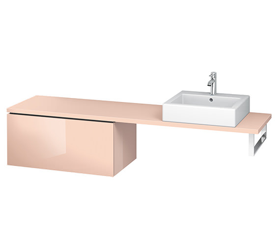 Alternate image of Duravit L-Cube 820mm 1 Drawer Floor Standing Vanity Unit For Console