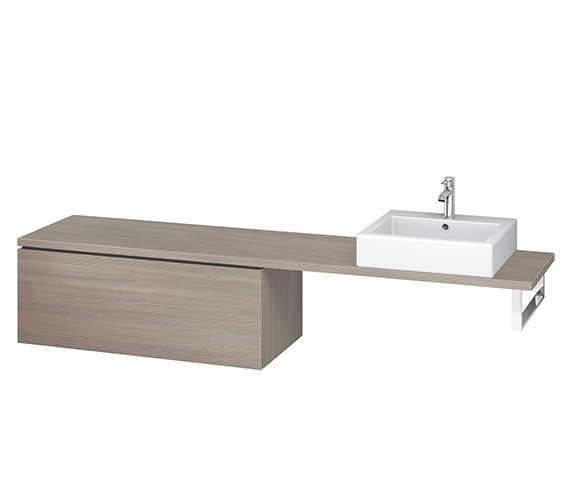 Additional image of Duravit L-Cube 1020mm White Matt 1 Drawer Floor Standing Vanity Unit For Console