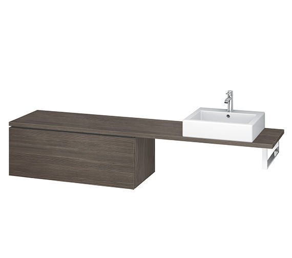 Alternate image of Duravit L-Cube 1020mm 1 Drawer Floor Standing Vanity Unit For Console