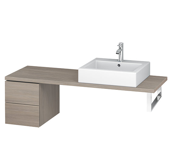 Additional image of Duravit L-Cube 320mm 2 Drawer Floor Standing Vanity Unit For Console