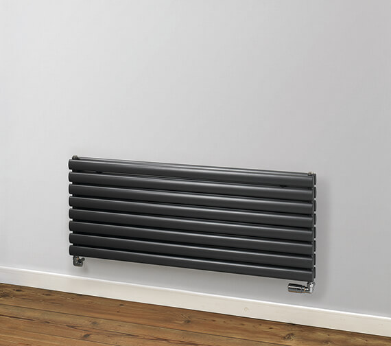MHS Rads 2 Rails Finsbury Horizontal 480mm Height Double Radiator