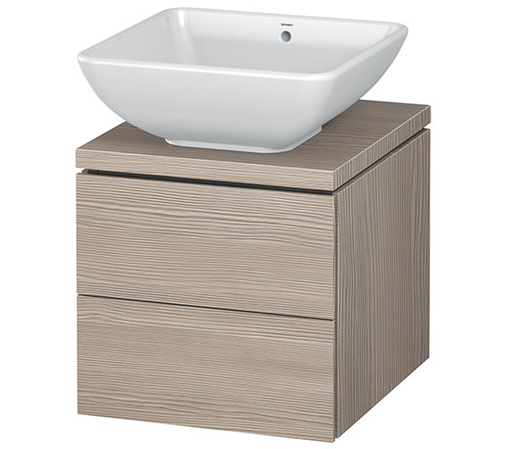 Additional image of Duravit L-Cube 420mm 2 Drawer Vanity Unit For Console