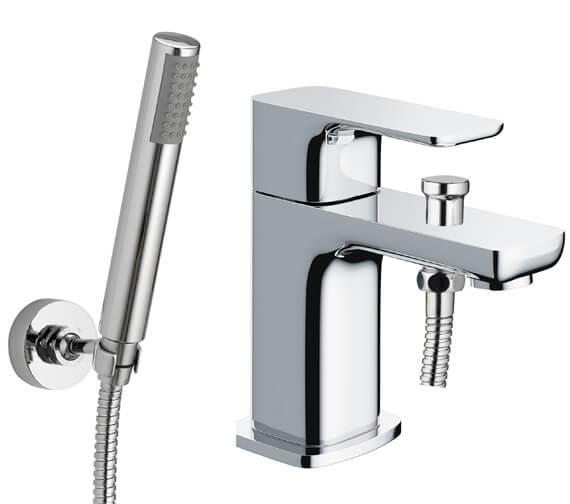 Pura Flite Mono Deck Mounted Bath Shower Mixer Tap With Kit