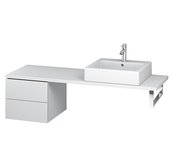 Duravit L-Cube 420mm 2 Drawer Floor Standing Vanity Unit For Console