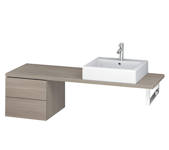 Additional image of Duravit L-Cube 420mm 2 Drawer Floor Standing Vanity Unit For Console