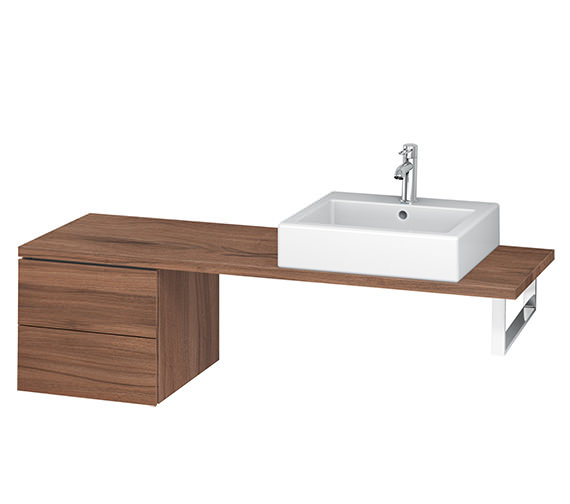 Alternate image of Duravit L-Cube 420mm 2 Drawer Floor Standing Vanity Unit For Console