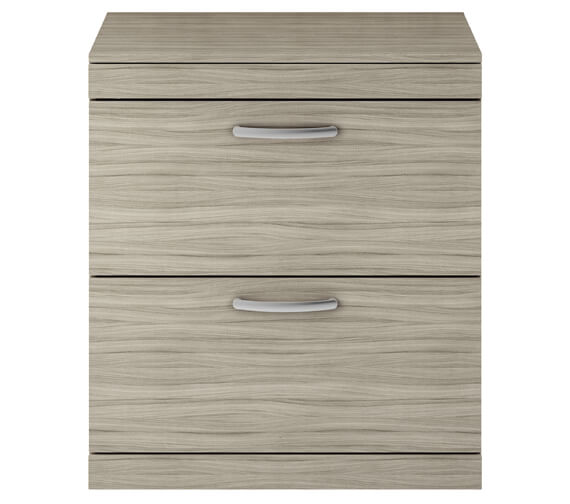 Additional image of Premier Athena 800mm 2 Drawer Floor Standing Vanity Unit With Worktop Gloss White Finish