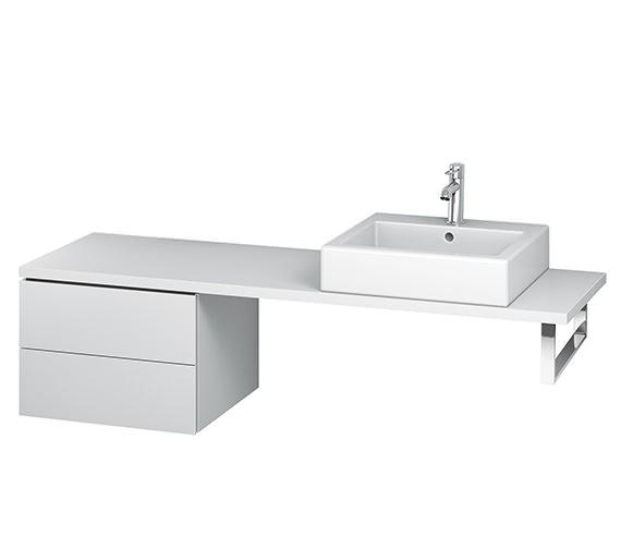 Duravit L-Cube 520mm White Matt 2 Drawer Floor Standing Vanity Unit For Console