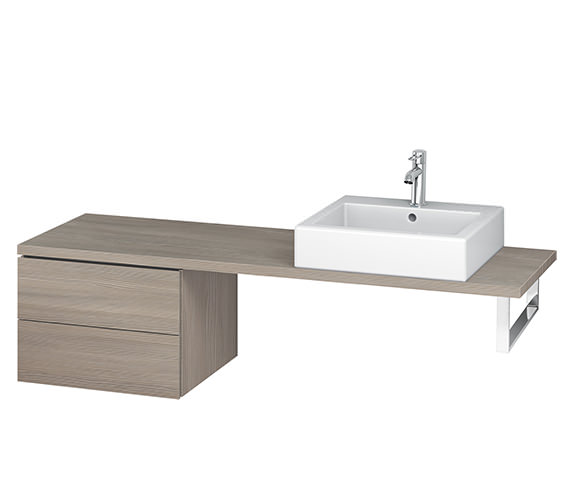 Additional image of Duravit L-Cube 520mm White Matt 2 Drawer Floor Standing Vanity Unit For Console