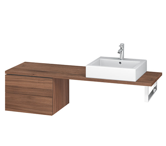 Alternate image of Duravit L-Cube 520mm 2 Drawer Floor Standing Vanity Unit For Console