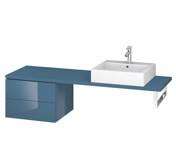 Alternate image of Duravit L-Cube 520mm White Matt 2 Drawer Floor Standing Vanity Unit For Console