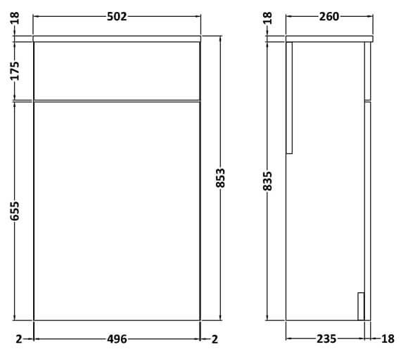 Technical drawing QS-V89283 / MOE142