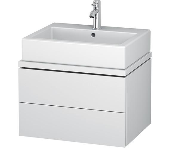 Duravit L-Cube 620mm White Matt 2 Drawer Vanity Unit For Console