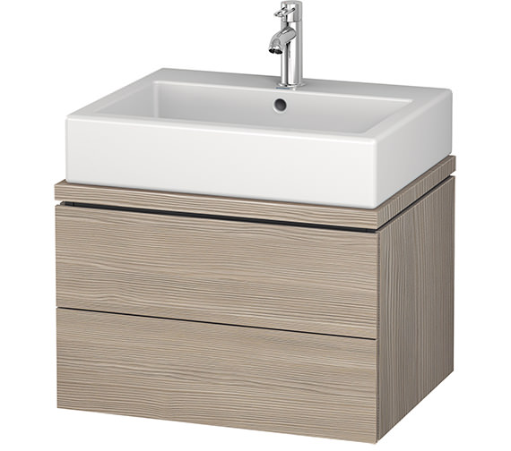 Additional image of Duravit L-Cube 620mm White Matt 2 Drawer Vanity Unit For Console