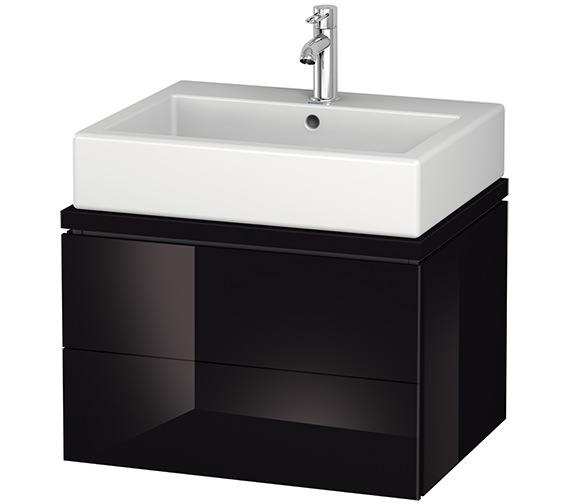 Alternate image of Duravit L-Cube 620mm White Matt 2 Drawer Vanity Unit For Console