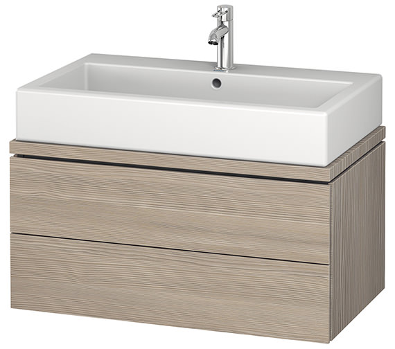 Additional image of Duravit L-Cube 820mm 2 Drawer Vanity Unit For Console