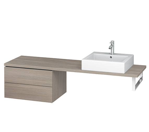 Additional image of Duravit L-Cube 620mm 2 Drawer Floor Standing Vanity Unit For Console