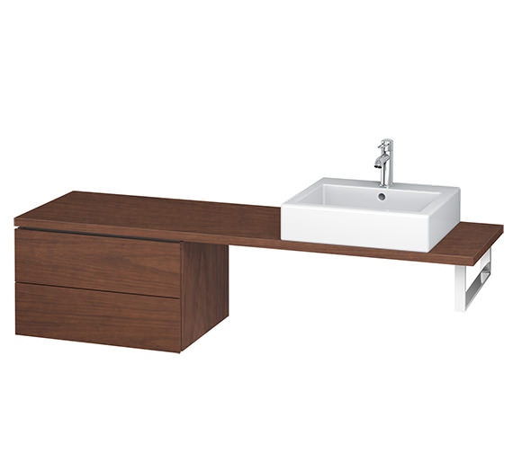 Alternate image of Duravit L-Cube 620mm 2 Drawer Floor Standing Vanity Unit For Console