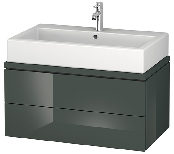 Alternate image of Duravit L-Cube 820mm 2 Drawer Vanity Unit For Console