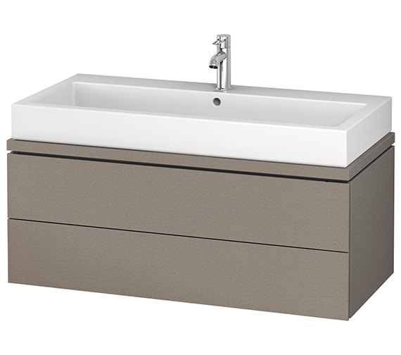 Additional image of Duravit L-Cube 1020mm 2 Drawer Vanity Unit For Console