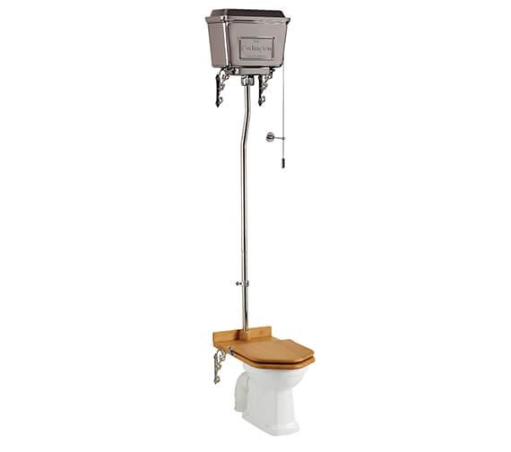 Burlington High Level WC With Chrome Aluminium Cistern - P2 - T30 CHR - T70 CHR