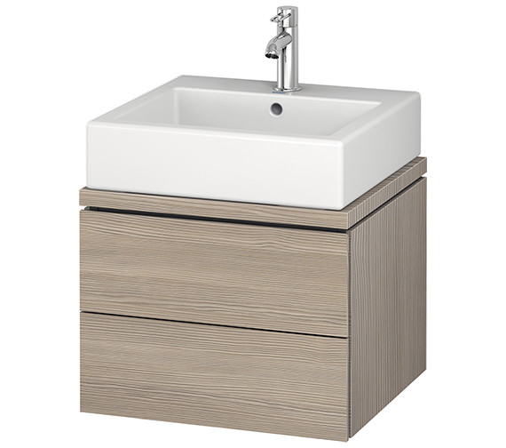 Additional image of Duravit L-Cube 520mm 2 Drawer Vanity Unit For Console