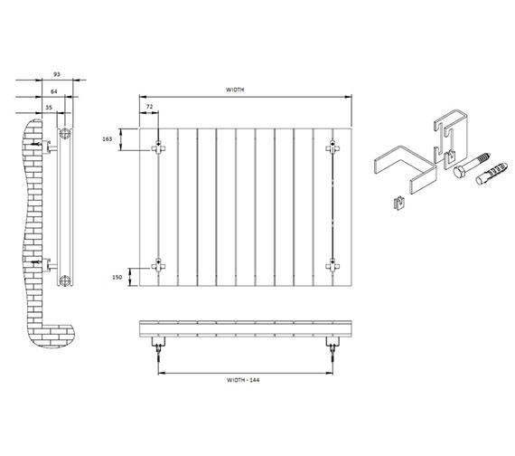 Technical drawing QS-V81051 / RND-FL06WD