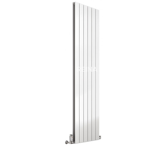 Reina Flat 218 x 1800mm White Single Panel Vertical Steel Designer Radiator - More Width Sizes Available